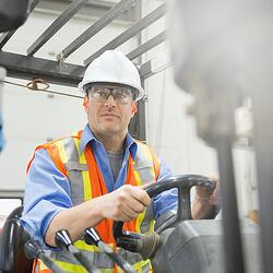 An image of a forklift driver