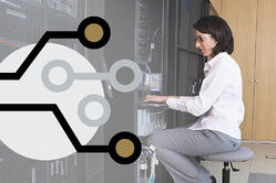 An IT worker in a server room