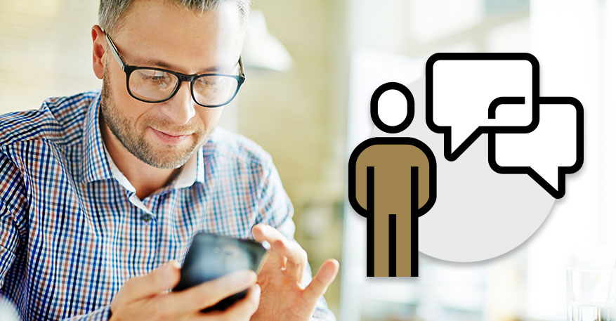A man contacting a group to discuss changing his LMS