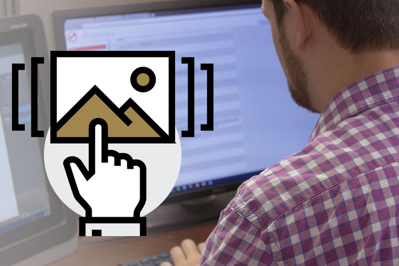 A person engaging with their LMS
