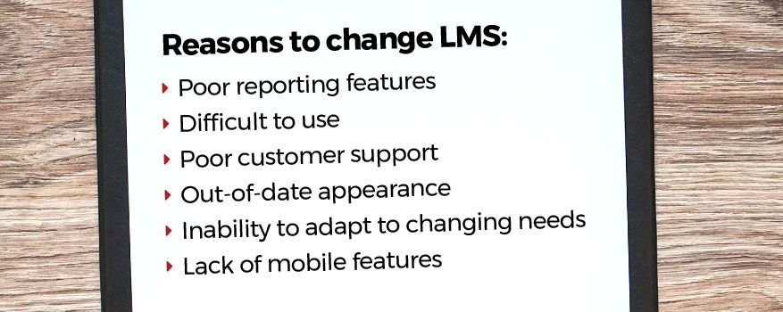 Reasons to change your LMS